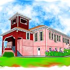 Applegate Elementary School Brick Building by ChePanArt