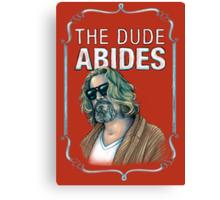 BIG LEBOWSKI-The Dude- Abides Canvas Print