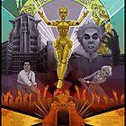 Metropolis Fan Poster by lemomekeke