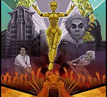 Metropolis Fan Poster by lemomekeke