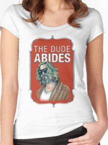 BIG LEBOWSKI-The Dude- Abides Women's Fitted Scoop T-Shirt