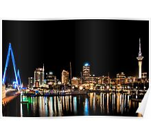 Viaduct Basin Auckland Poster