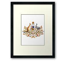 australian coat of arms Framed Print