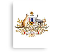 australian coat of arms Canvas Print