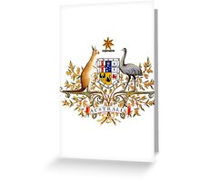 australian coat of arms Greeting Card