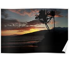 Sunset in Maui Poster