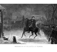 George Washington At The Battle Of Trenton by warishellstore