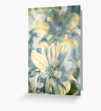 Sparks in blue Greeting Card