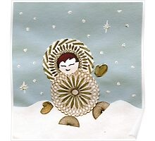 Eskimo Spirograph Boy Playing in the snow! Poster
