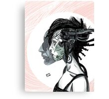 cyber girl Canvas Print