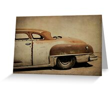 Rusty Chrysler De Soto Greeting Card