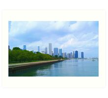Chicago Water Front Art Print