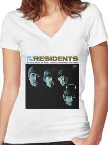 Meet The Residents! Women's Fitted V-Neck T-Shirt