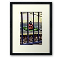 Bird and the Boat Weight and Milk Bottle Top Framed Print