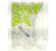 USGS TOPO Map New Hampshire NH Exeter 330030 1932 62500 Poster