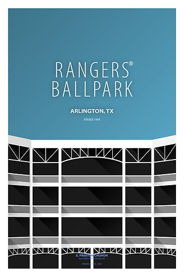 Minimalist Rangers Ballpark - Arlington by pootpoot