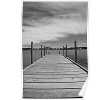 Saugatuck jetty - Kalamazoo River (Michigan) Poster