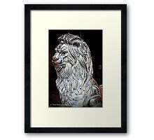 Bronze lion Framed Print