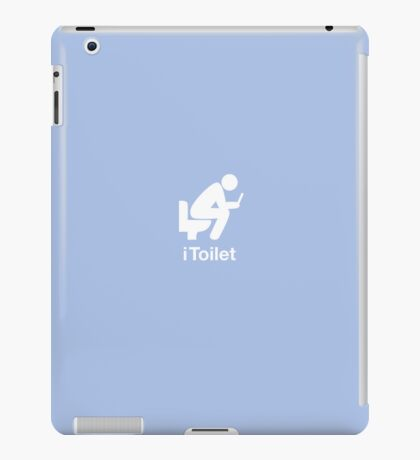 iToilet, blue-icon for people who love reading from iPad iPad Case/Skin