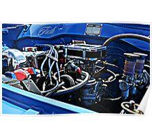 Engine Blue Poster