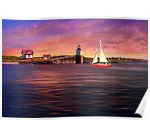 Sailing at Booth Bay Harbor Poster