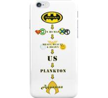 Superhero Pecking Order iPhone Case/Skin