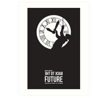 Back to the Future - Doc Brown & the Clock Tower Art Print