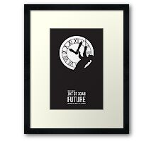 Back to the Future - Doc Brown & the Clock Tower Framed Print