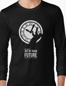 Back to the Future - Doc Brown & the Clock Tower Long Sleeve T-Shirt