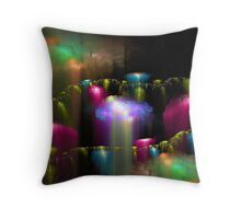 Rising Crystals Throw Pillow