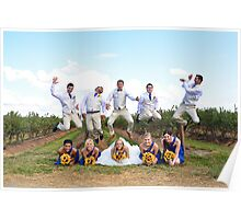 The grooms men jump Poster