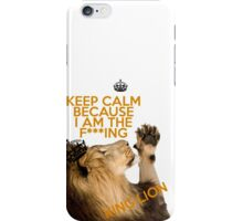 Lion Keep Calm iPhone Case/Skin