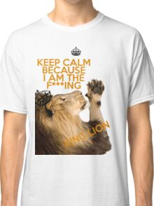 Lion Keep Calm Classic T-Shirt