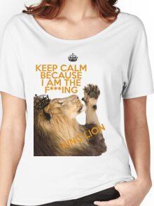 Lion Keep Calm Women's Relaxed Fit T-Shirt