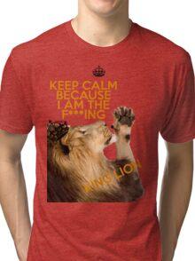 Lion Keep Calm Tri-blend T-Shirt