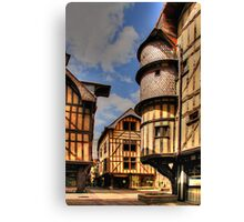 Medieval City, Troyes, France Canvas Print