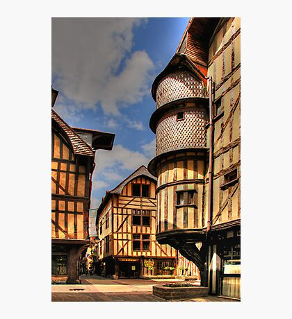 Medieval City, Troyes, France Photographic Print