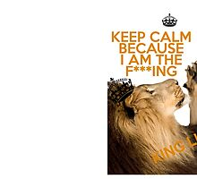 Lion Keep Calm by VovaShirts