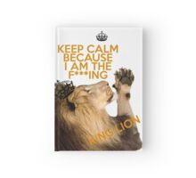 Lion Keep Calm Hardcover Journal