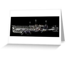 underwater airship of musical devices Greeting Card