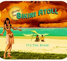 Bikini Atoll Postcard by Lewis Tilley