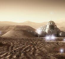 Mars Habitat - Valley End by BryanVersteeg