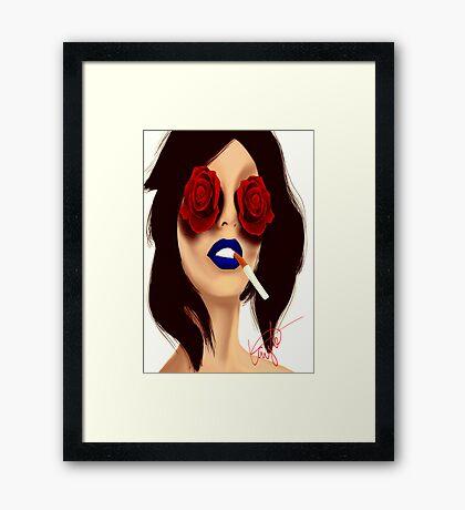 Cigarette? Framed Print