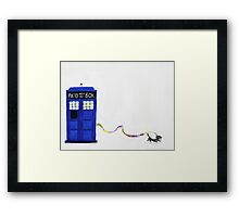 The Dachshunds Have the Phone Box Framed Print