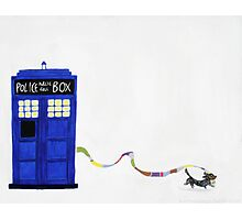 The Dachshunds Have the Phone Box Photographic Print