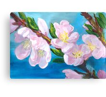PEACH TREE BLOSSOMS Canvas Print