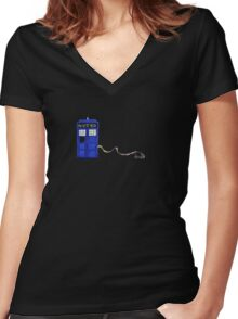 The Dachshunds Have the Phone Box Women's Fitted V-Neck T-Shirt