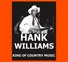 Hank Williams Sr. King Of Country Music Kids Clothes