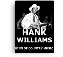 Hank Williams Sr. King Of Country Music Canvas Print