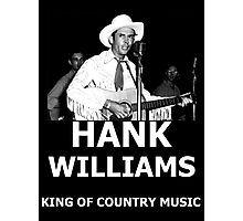 Hank Williams Sr. King Of Country Music Photographic Print